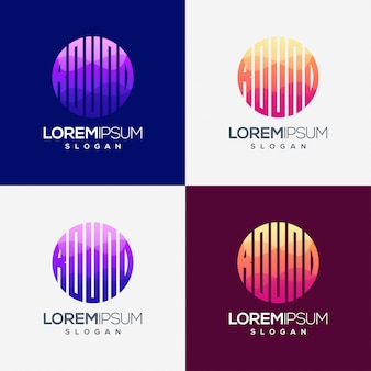 Ronde kleurrijke gradiënt logo ontwerp