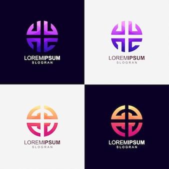 Ronde kleurverloop logo