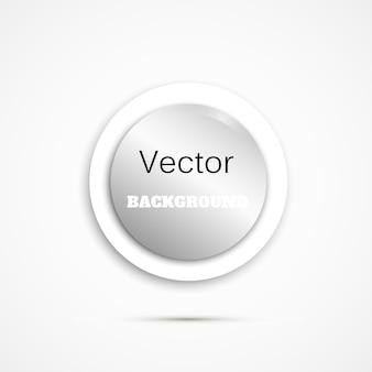 Ronde knop op witte achtergrond papier login-knop
