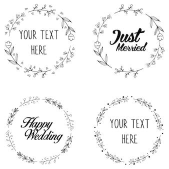 Ronde krans frame voor bruiloft bruids uitnodigingsontwerp