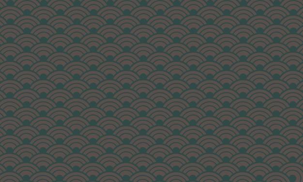 Ronde kromme kruisschaal in naadloos patroon. patroon voor textiel.