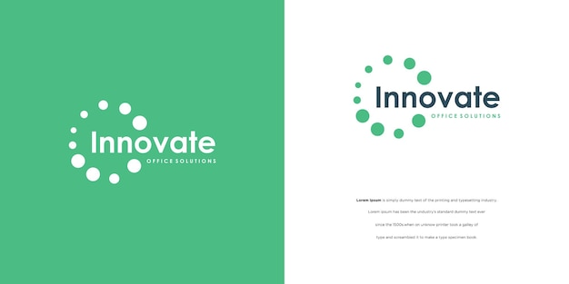 Ronde logo-conceptpunt verbindt creatief logotype voor andere digitale t