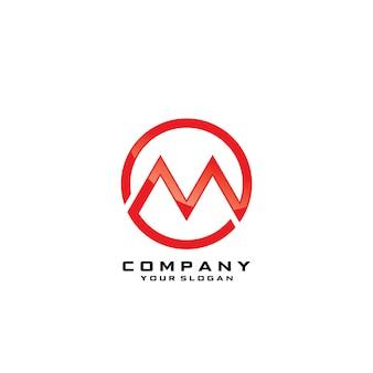 Ronde m symbool logo sjabloon vector