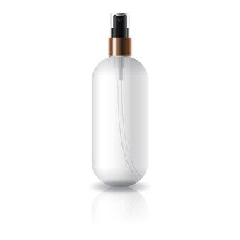 Ronde ovale cosmetische fles