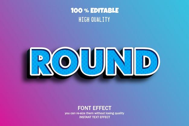 Ronde tekst, bewerkbaar lettertype-effect