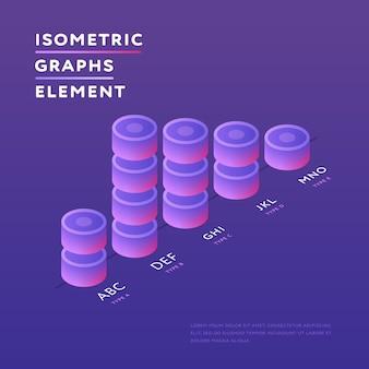 Ronde torens in ontwerp van isometrische grafiek