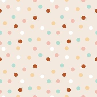 Ronde vormen vector naadloze patroon kleurrijke confetti festival partij ontwerp scandinavische stijl