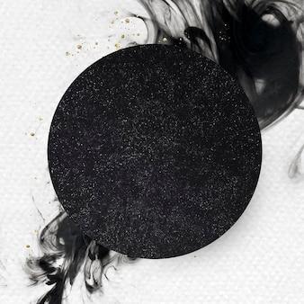 Ronde zwarte abstracte patroonachtergrond