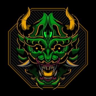 Ronin samurai boos vectorillustratie