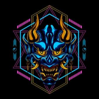 Ronin samurai masker duivel