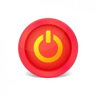 Rood aan / uit-knop Gratis Vector