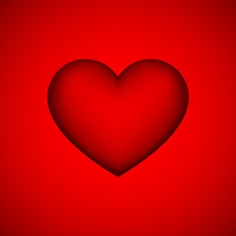 Rood abstract hartteken