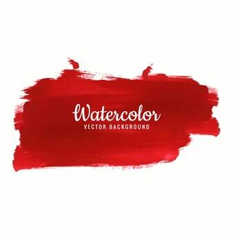 Rood aquarel slagontwerp