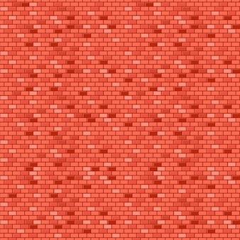 Rood bakstenen muur vector naadloos patroon