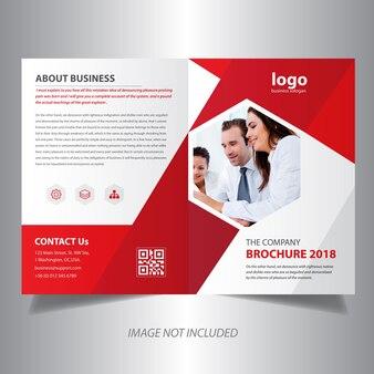 Rood bi-vouw brochureontwerp