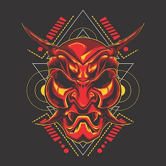 Rood demonenmasker