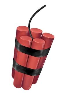 Rood dynamiet met lont