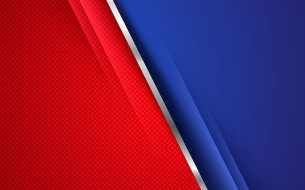 Rood en blauw abstract collectief concept als achtergrond
