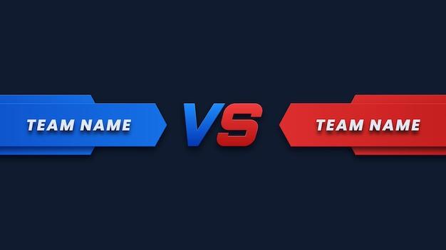 Rood en blauw versus wedstrijdachtergrond