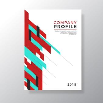 Rood en groen geometrieontwerpbedrijf