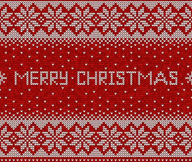 Rood en wit kerst patroon
