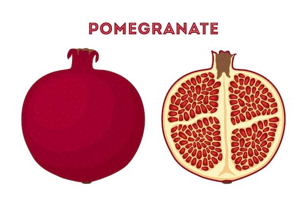 Rood fruit - granaatappel.