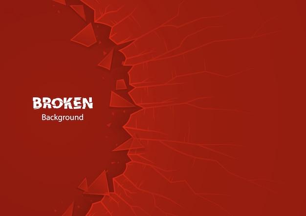 Rood gebroken glas