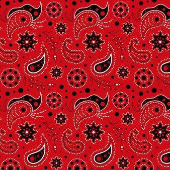 Rood getekend paisley patroon