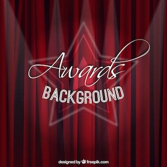 Rood gordijn awards achtergrond