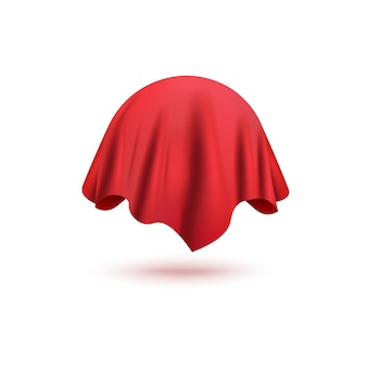 Rood gordijn bol object