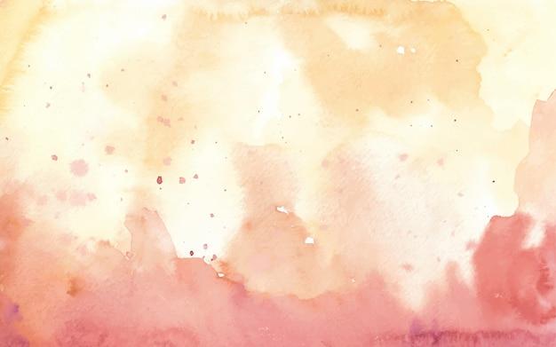 Rood goud abstract handgeschilderde aquarel achtergrond