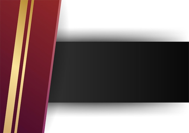 Rood goud abstracte geometrische vormen op witte achtergrond. geschikt voor presentatieachtergrond, banner, webbestemmingspagina, ui, mobiele app, redactioneel ontwerp, flyer, banner en andere gerelateerde gelegenheden