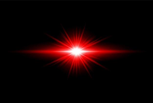 Rood gouden transparant licht lens flares ontwerp eps