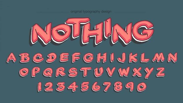 Rood graffiti-stijl typografieontwerp