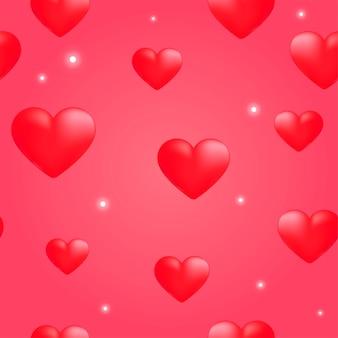 Rood hart naadloos patroon