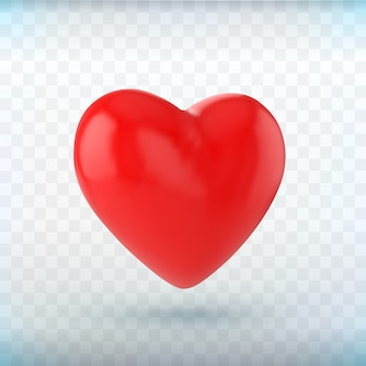 Rood hart pictogram op zwarte achtergrond.