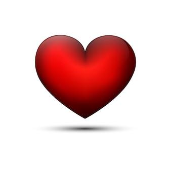 Rood hart voor valentijnsdag