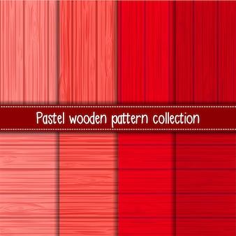 Rood kleurverloop van shabby chic houten naadloze patronen
