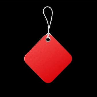 Rood label. verkooppromotie, lage prijsaanbieding.