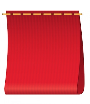 Rood label voor kleding.