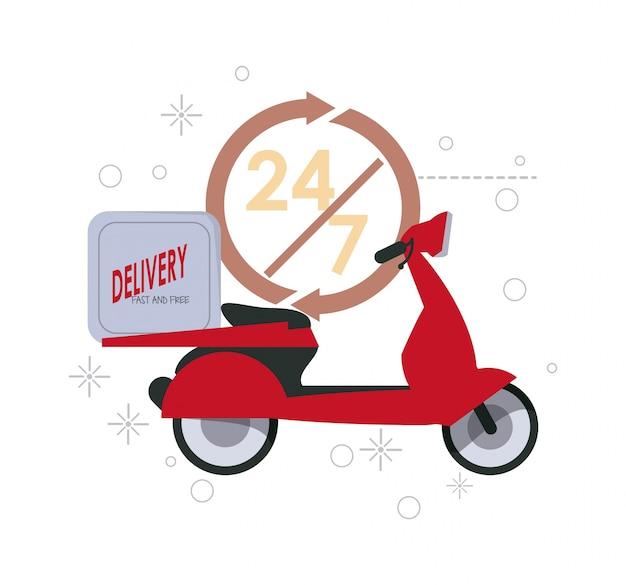 Rood motorfietspictogram