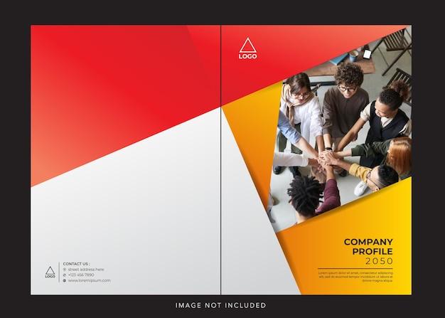 Rood oranje zakelijke bedrijfsprofiel omslag