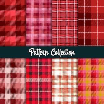Rood patroon en naadloze collectie.