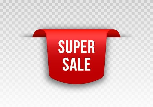 Rood prijskaartje tag-ontwerp voor black friday realistisch verkooplabel