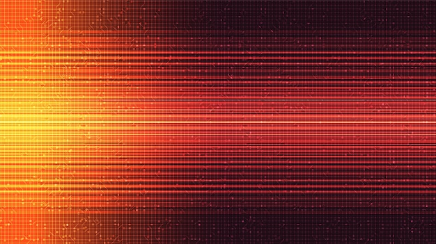 Rood snelheidslicht op technische achtergrond, digitaal en internet conceptontwerp.