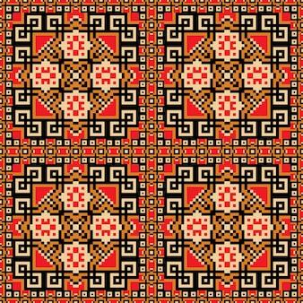 Rood tapijt patroon ontwerp
