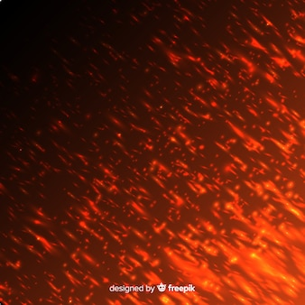 Rood vuureffect op transparante achtergrond