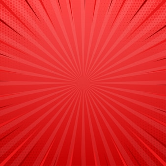 Rood zijluik met halftooneffect. vintage pop-art retro vectorillustratie.