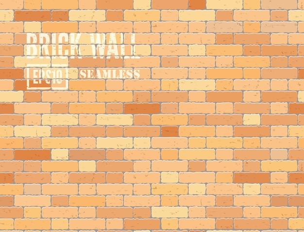 Roodbruine loft stijl realistische grunge bakstenen muur naadloze patroon achtergrond