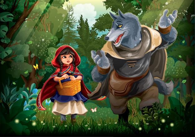 Roodkapje en grote boze wolf